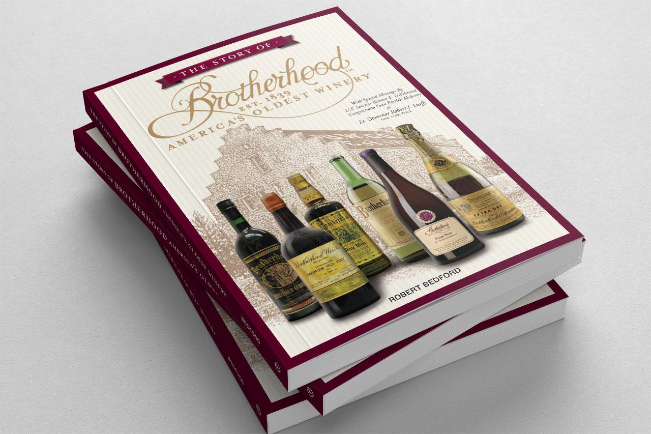 Brotherhood Winery books stacked