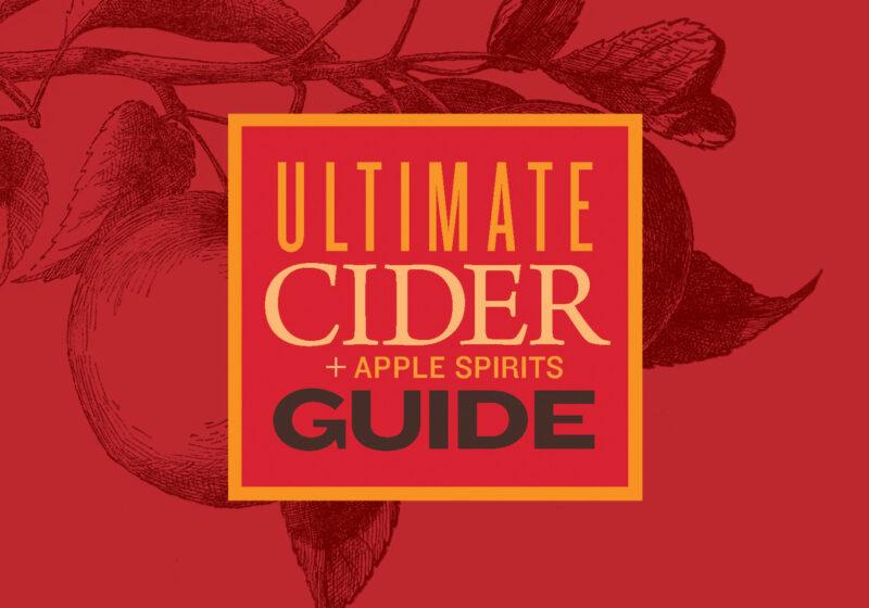 cider guide logo on red background