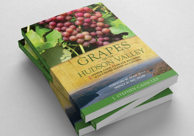 stack of three books with grapes on the cover