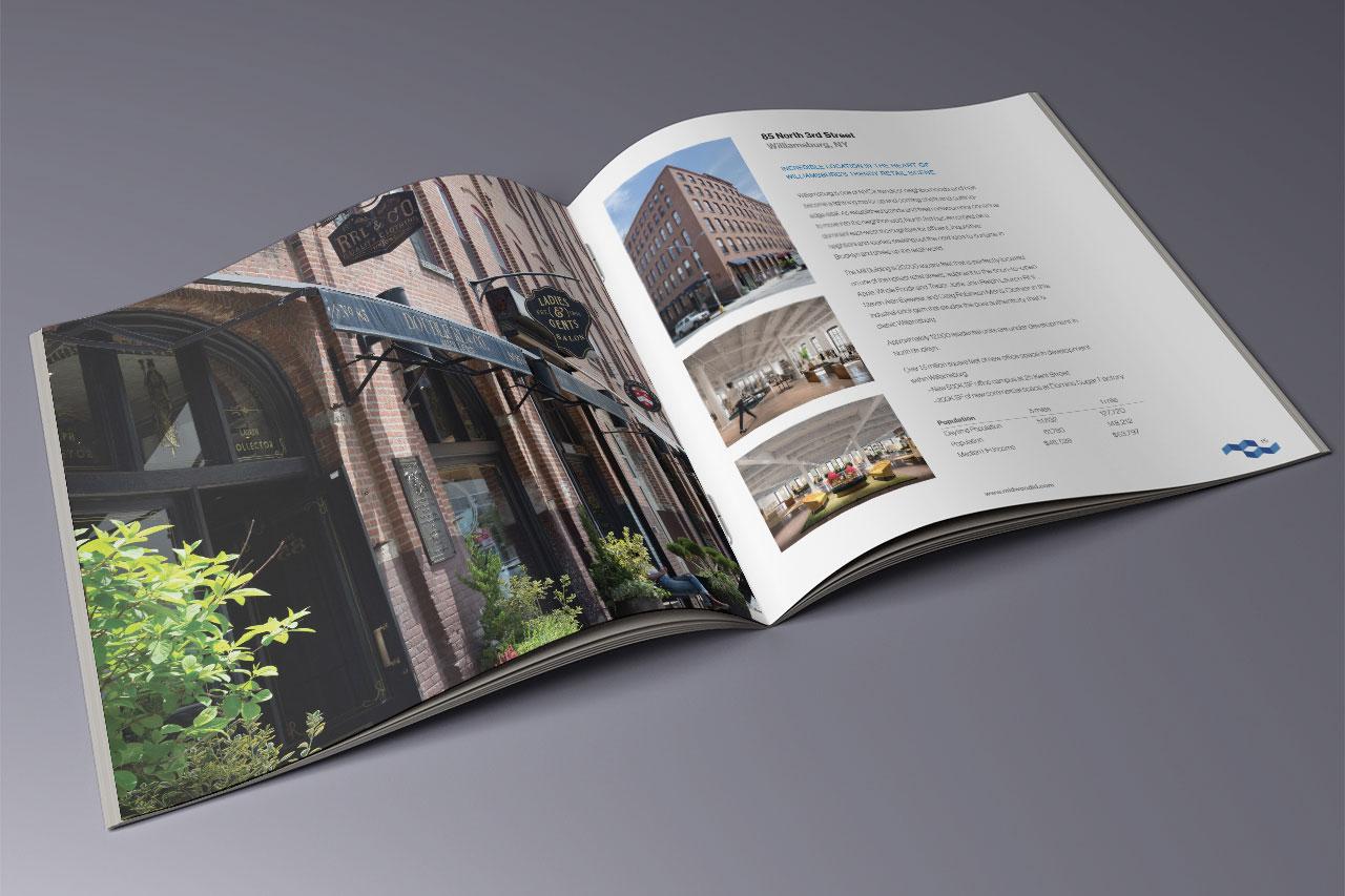 interior of architectural brochure