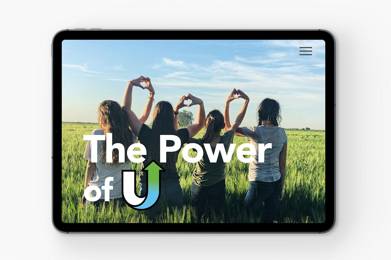 ipad with Power of U written across photo
