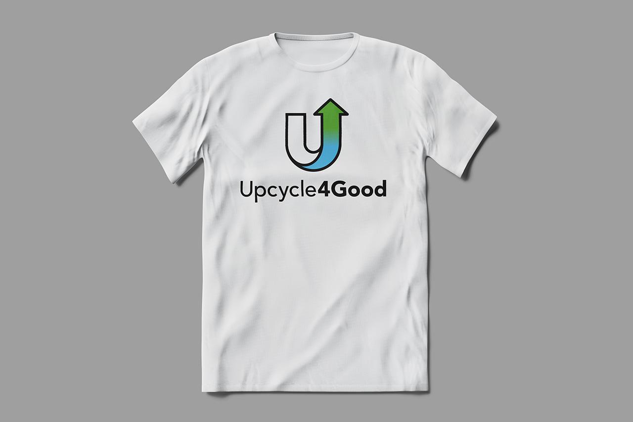 white tshirt on gray background