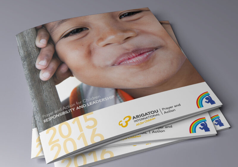 cover of annual report showing boy's face