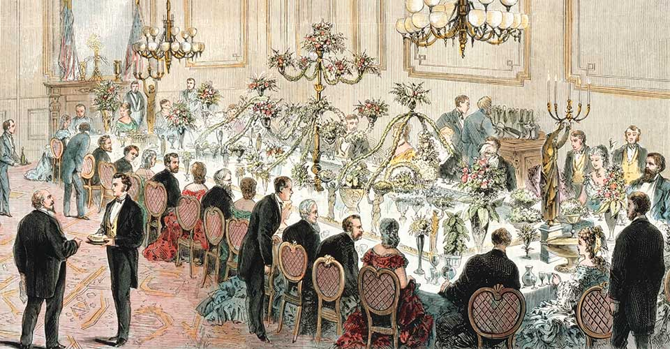 President Grant State dinner illustration